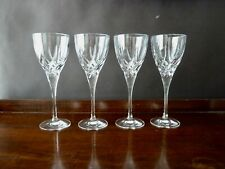 4 Royal Doulton RDC27 Cut Wine Glasses,  Not Signed, h19,8cm