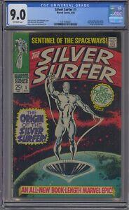 SILVER SURFER #1 CGC 9.0 WATCHER ORIGIN