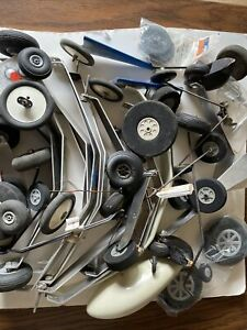Lot Of Model Airplane Landing Gear And Wheels Tires