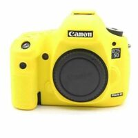 Silicone Body Bag Cover Case Skin For Canon EOS 5D Mark III 5D3/5DS/5DR Yellow