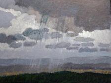 """DonnaClairArt - MONSOON (Taos, N.M.) - 6""""X8"""" Orig. Oil, Framed"""