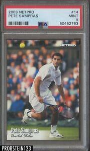 2003 Netpro Tennis #14 Pete Sampras PSA 9 MINT