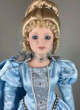 "Vintage 1988 Danbury Mint Cinderella Porcelain Doll 24"" new in box Nos"