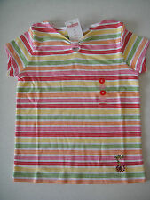 Gymboree NWT CHERRY BABY Striped Tee Top Shirt Rhinestone Red Green Orange 6