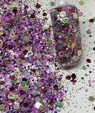 glitter mix acrylic gel nail art SUGARDITCH  limited edition