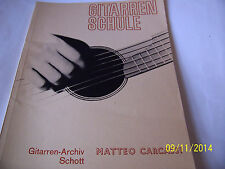Matteo Carcassi - Gitarren Schule  . Music Book for guitar