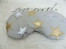 NWT Free People Starry Eyed Travel Eye Mask Grey Silver Star Sleep Leather