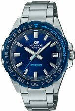 Casio Edifice Blue Dial Countdown Bezel Quartz Men EFV-120DB-2AVUEF RRP £99.90