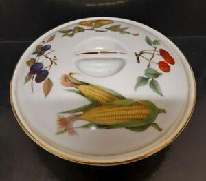 Royal Worcester Evesham  Lidded Casserole/ Vegetable Tureen 9 X 2 Inch