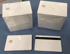 SLE 4442 Contact IC - Small Chip - White PVC Smart Card - HiCo 2 Track 1000 Pack