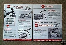 Gilbert Science Toy Telescopes Flyer D2183