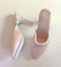 "Doll Shoes PALE PINK SATIN fit CANDI 16"" Fashion Dolls Tyler Gene Alex New"