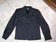 Ralph Lauren 100% Wool Womens Petite Small Suit Jacket