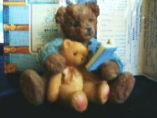 """CHERISHED TEDDY..BAXTER & FRIEND """"ITS NOT THE SIZE OF THE FRIEND""""  NIB W/ PAPERS"""