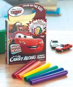 New Disney Pixar Cars Carry Along Magic Reveal Activity Travel Book Markers 4+