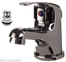 Bagno moderno bacino lavandino rubinetto miscelatore mono Inc PRIMAVERA Clicker PUSH pop up rifiuti T