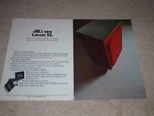 JBL Lancer 55 Speaker AD, 1971, Article, 2 pgs, Color