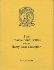 CHRISTIE'S CHINESE SNUFF BOTTLES Ross Collection 1978