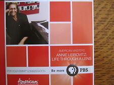 ANNIE LEIBOVITZ LIFE THROUGH A LENS EMMY DVD PBS PHOTOGRAPHER