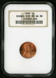 US Coin 1995 Double Die Lincoln Cent NGC MS66 NO RESERVE!