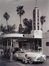 """Signal Gas Station,1950"", digital from B&W photo, 24h x 18w image, Full Service"
