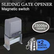 Sliding Gate Opener for Gates Up to 3300Lbs with Remote Controls !