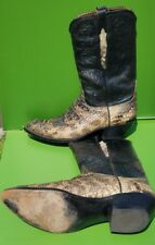 Lucchese Classic Handmade Men's Gator and Leather Boots Size 12 D Pre-owned