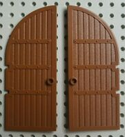 2x Lego 2400 Brown Castle Doors Vintage