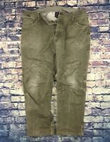 Kuhl Patina Distressed Olive Green Work Wear Pants Mens 38 x 30