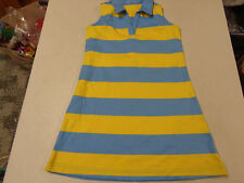 Hanna Andersson Striped Knit Sleeveless Collar Dress Girls 120 6 7