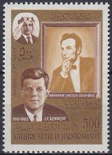 Aden Kathiri 1967 ** Mi.164 A  Lincoln Kennedy JFK