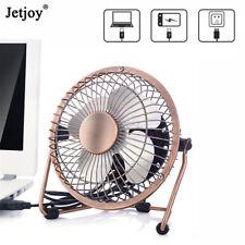 Metal Mini Desk Fan Small Quiet Air Cooler USB Power Portable Office Table Fan