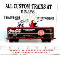 HO CUSTOM LETTERED COCA COLA HERO'S SERIES COLLECTIBLE REEFER LOT 1007