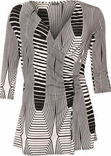 Casual Striped Polyester Tops & Shirts Plus Size for Women