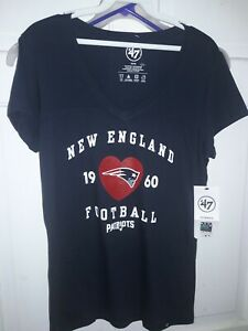 New England Patriots Women's NFL football T-Shirt Pats '47 Brand NEW - Ladies M