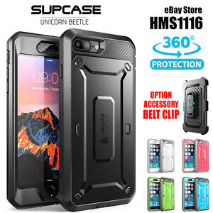 For Apple iPhone 6 7 8 Plus Case Cover Back Hard Genuine SUPCASE Heavy Duty 360