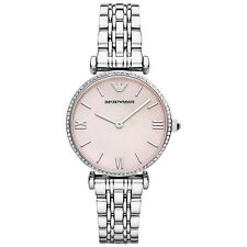 ** NEW **Emporio Armani® watch AR1779 Ladies Gianni T-Bar Mother of Pearl