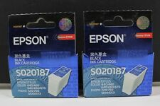 Epson Black Ink Cartridges Lot Of 2 S020187