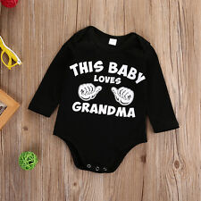 6-12Months Newborn Baby Kids Boys Girls Romper Jumpsuit Bodysuit Clothes Outfits