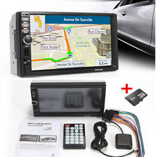 "12V 7"" HD GPS Navigation Bluetooth Stereo MP3 MP5 Player + 8G Card Phone Charger"