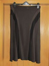 Marks & Spencer brown black stretch skirt size 14 bnwt £29.50