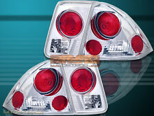 Fit For 01-05 HONDA CIVIC TAIL LIGHTS 4 DOORS CLEAR 02 03 G2
