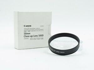 Genuine Canon Close-Up Lens 500D 58mm Near Mint Condition In Original Box