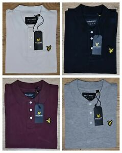 Lyle and Scott Mens Polo Shirt Short Sleeve Regular Fit 100% Cotton Summer Sale