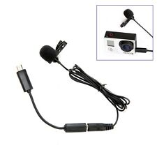 BOYA BY LM20 Pro 3.5mm Clip Sports External Microphone for GoPro Hero 4 3+ 3 2