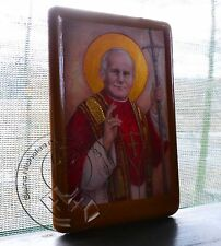 St POPE JOHN PAUL II Religious Catholic Icons Anniversary Gold Plating Gifts
