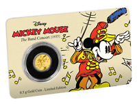 2016 Mickey Through the Ages: The Band Concert 0.5g Gold coin