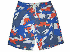 Polo Ralph Lauren Blue Orange Camouflage Camo Swim Board Shorts Suit 32
