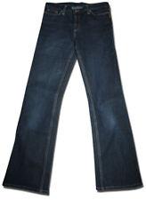 Designer BETTINA LIANO Size 30 Indigo Blue Stretch Denim JEANS