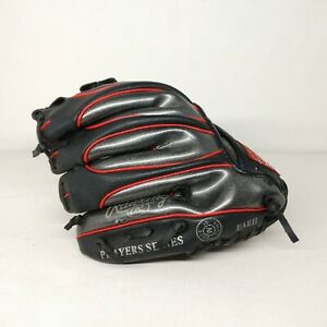 """rawling black red 9"""" inch performance baseball mits gloves left handed pl158bb"""